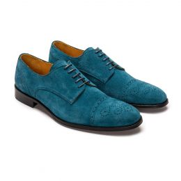 '48 Blue Suede Derby Shoes