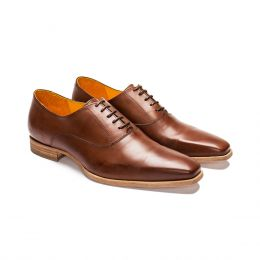 A Custom Made Oxford Shoe Mohagany Calf Leather (Side View)
